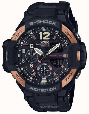Casio Mens g-shock aviator zwaartekracht meester horloge GA-1100RG-1AER