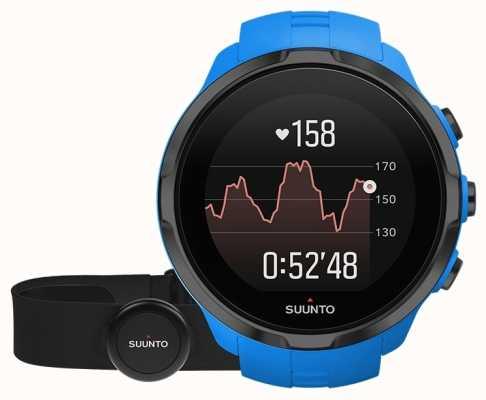 Suunto Spartaanse sport pols hr blauw met riem SS023365000