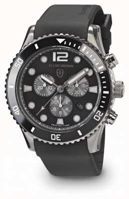Elliot Brown Mannen bloxworth zwarte en grijze zwarte rubberen riem 929-010-R09