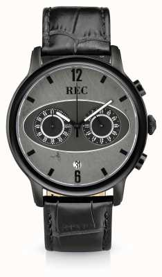 REC Mark 1 m3 chronograph black leather strap M3