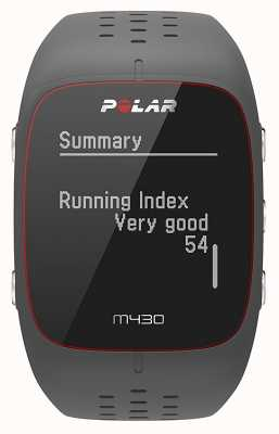 Polar M430 grijs rubberen sportwatch 90064404