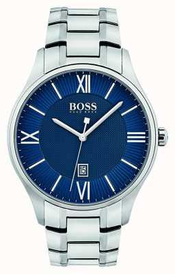 Hugo Boss Mensgouverneur klassieke blauwe wijzerplaat 1513487