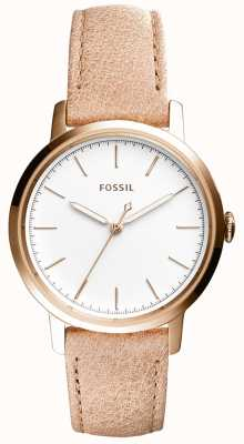 Fossil Womans neeley beige leren riem ES4185