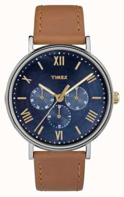 Timex Mannen Southview multifunctionele chronograaf bruin TW2R29100