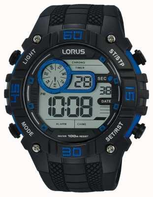 Lorus Heren digitale horloge zwart en blauw R2353LX9