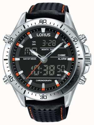 Lorus Heren sport analoge / digitale chronograaf zwart RW637AX9