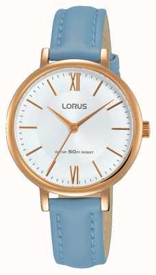 Lorus Womans sunray dial zachte blauwe lederen band RG264LX5