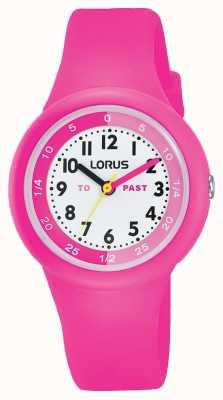 """Lorus Kids """"past"""" """"to"""" kijken naar roze siliconen RRX99EX9"""