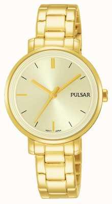 Pulsar Womans vergulde roestvrijstalen armband champagne wijzerplaat PH8360X1