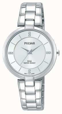 Pulsar Womans roestvrijstalen armband zilveren wijzerplaat PH8311X1