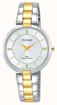 Pulsar Womans attitude tweekleurige roestvrijstalen zilveren wijzerplaat PH8314X1