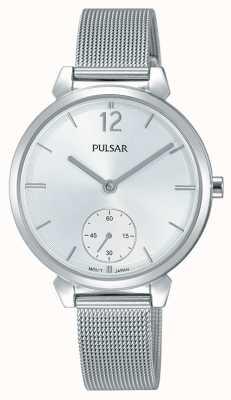 Pulsar Womans roestvrijstalen mesh armband zilveren wijzerplaat PN4053X1