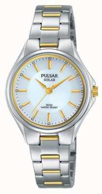 Pulsar Dames two tone roestvrijstalen armband zilveren wijzerplaat PY5035X1