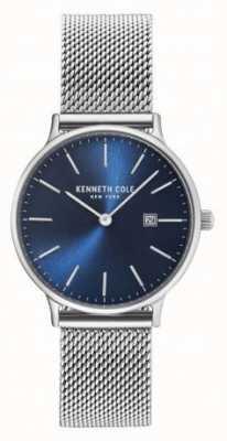 Kenneth Cole Womans roestvrijstalen maasband blauw wijzerplaat KC15057005