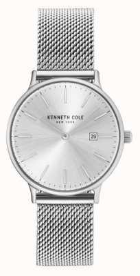 Kenneth Cole Womans roestvrijstalen mesh armband zilveren wijzerplaat KC15057007