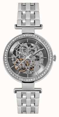 Kenneth Cole Womans automatische zilveren skeletwiel zilveren armband KC15107004
