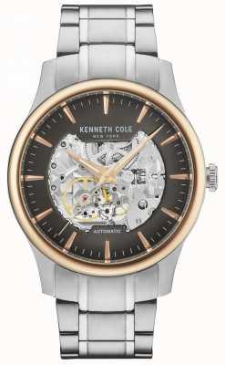 Kenneth Cole Mannen automatische skeletwiel roestvrijstalen armband KC15110001