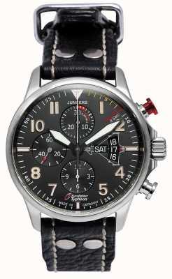 Junkers Mens junkers 3 eurofighter chronograaf automatisch zwart 6826-5