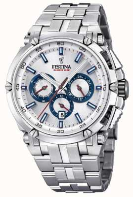 Festina Mens chronobike 2017 roestvrij staal zilver chrono F20327/1