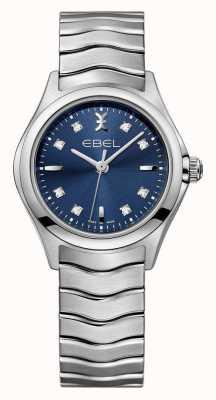 EBEL Wave blauwe horloge roestvrij stalen horloge 1216315