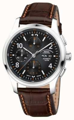 Muhle Glashutte Heren lunova chronograaf automatisch bruin leer M1-43-06-LB