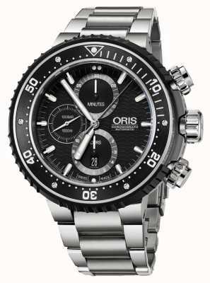 Oris Prodiver 1000m automatische chronograaf titanium 01 774 7727 7154-SET