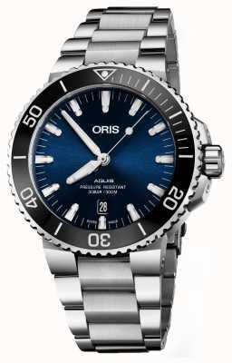 ORIS Aquis date automatische roestvrijstalen blauwe wijzerplaat 01 733 7730 4135-07 8 24 05PEB