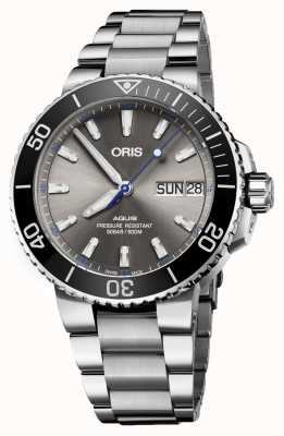 Oris Aquis hammerhead limited edition date automatisch roestvrij 01 752 7733 4183-SET MB