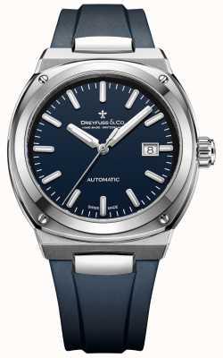 Dreyfuss Heren 1953 automatische chronometer donkerblauw DGS00154/05