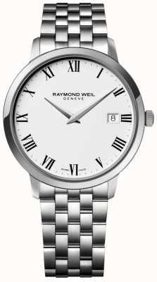 Raymond Weil Heren toccata roestvrij stalen armband witte wijzerplaat 5588-ST-00300