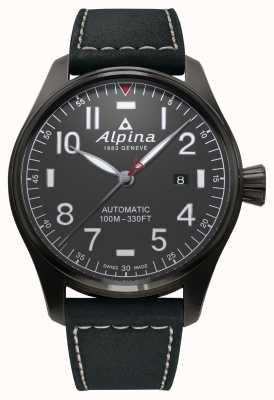 Alpina Heren startimer piloot automatische zwarte band AL-525G4TS6