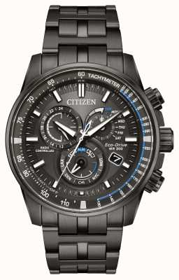 Citizen Mens eco-drive radio gestuurde zwarte ip AT4127-52H