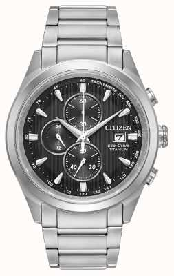 Citizen Heren eco-drive super titanium zwarte wijzerplaat chronograaf CA0650-58E