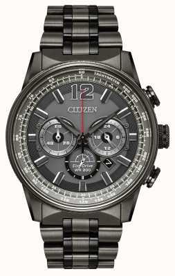 Citizen Mens eco-drive nighthawk chronograaf zwart ip CA4377-53H