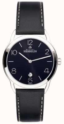 Michel Herbelin Mens equinox zwart riem horloge 19577/14N