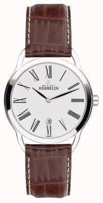Michel Herbelin Mens equinox bruine band klassieke horloge horloge 19577/01GO