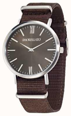 Morellato Heren vela bruine wijzerplaat bruin riem horloge R0151134007