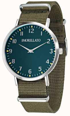 Morellato Mens vela groene wijzerplaat / riem horloge R0151134004