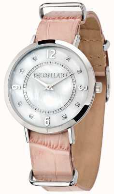 Morellato Vrouwen versilia roze lederen horloge R0151133508