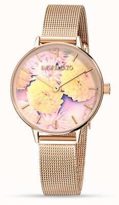 Morellato Vrouwen ninfa roos goud mesh horloge R0153141502