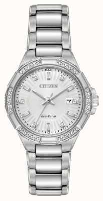 Citizen Riva eco-drive roestvrijstalen diamantset EW2460-56A