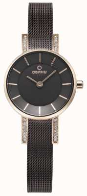 Obaku Womans Lykke Walnut Mask horloge V207LEVNMN
