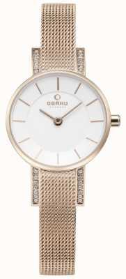 Obaku Womans lykke rose gouden horloge V207LEVIMV