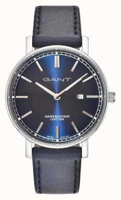 GANT Mens nashville blauw leren riem blauw wijzerplaat GT006002