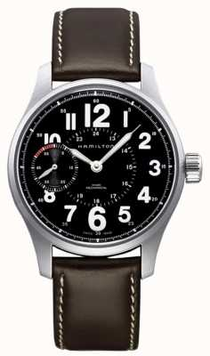 Hamilton Khaki Field Officer Mechanisch Bruin Leer H69619533