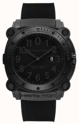 Hamilton Kaki navy onderzetter 1000m auto zwarte rubber H78585333