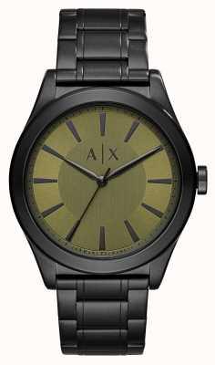 Armani Exchange Mens nico verzinkt roestvrij staal groene wijzerplaat AX2333