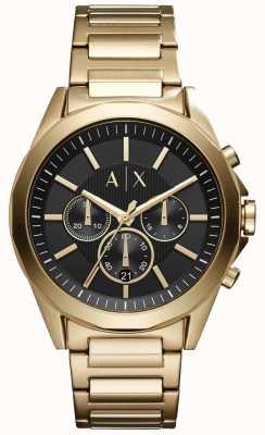 Armani Exchange Mens chronograaf roestvrij staal zwarte wijzerplaat AX2611