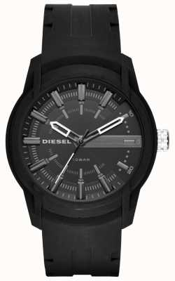 Diesel Heren armbanden zwarte rubberen riem DZ1830