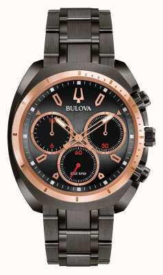 Bulova Heren sportkromme zwart geïsoleerde armband 98A158
